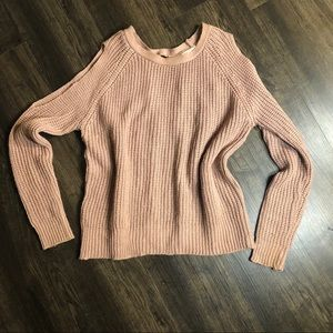 Sweaters - Mauve/Blush Slit arms and open backed sweater